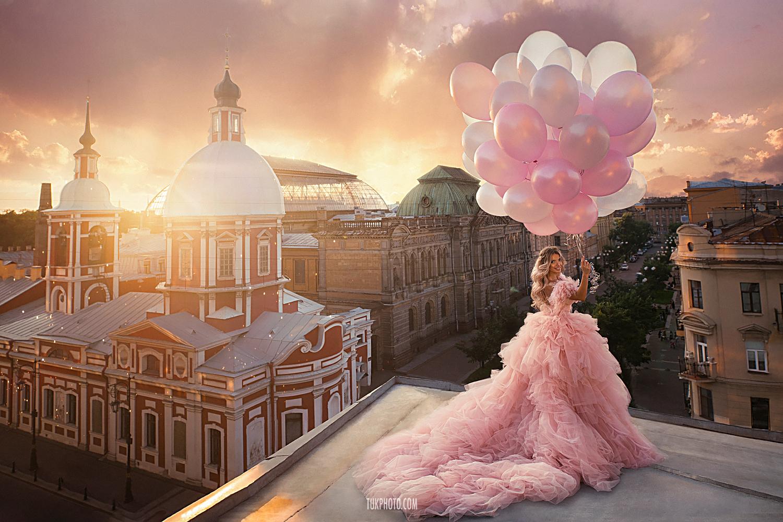 Розовые шарики / фотограф Анна Тукачева