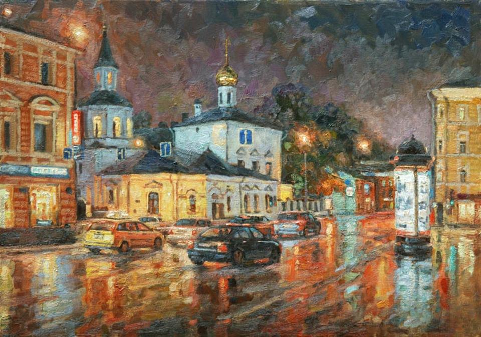 Московское лето / Художник Игорь Разживин