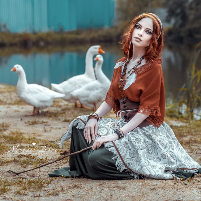 Shepherdess for geese