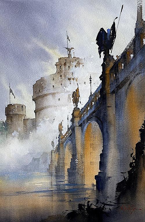 Картины акварелью Thomas W. Schaller