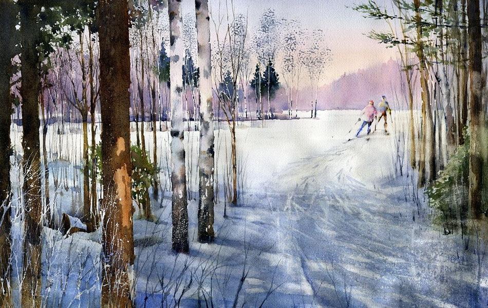 Акварельные пейзажи Художник Владимир Тупоршин