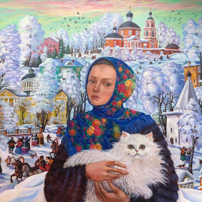 котики / художник Татьяна Хазова