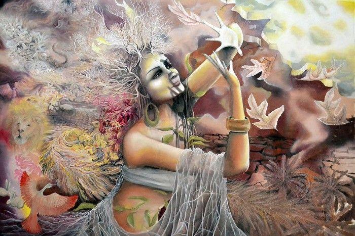 Индийский художник Tejesh Kumar S