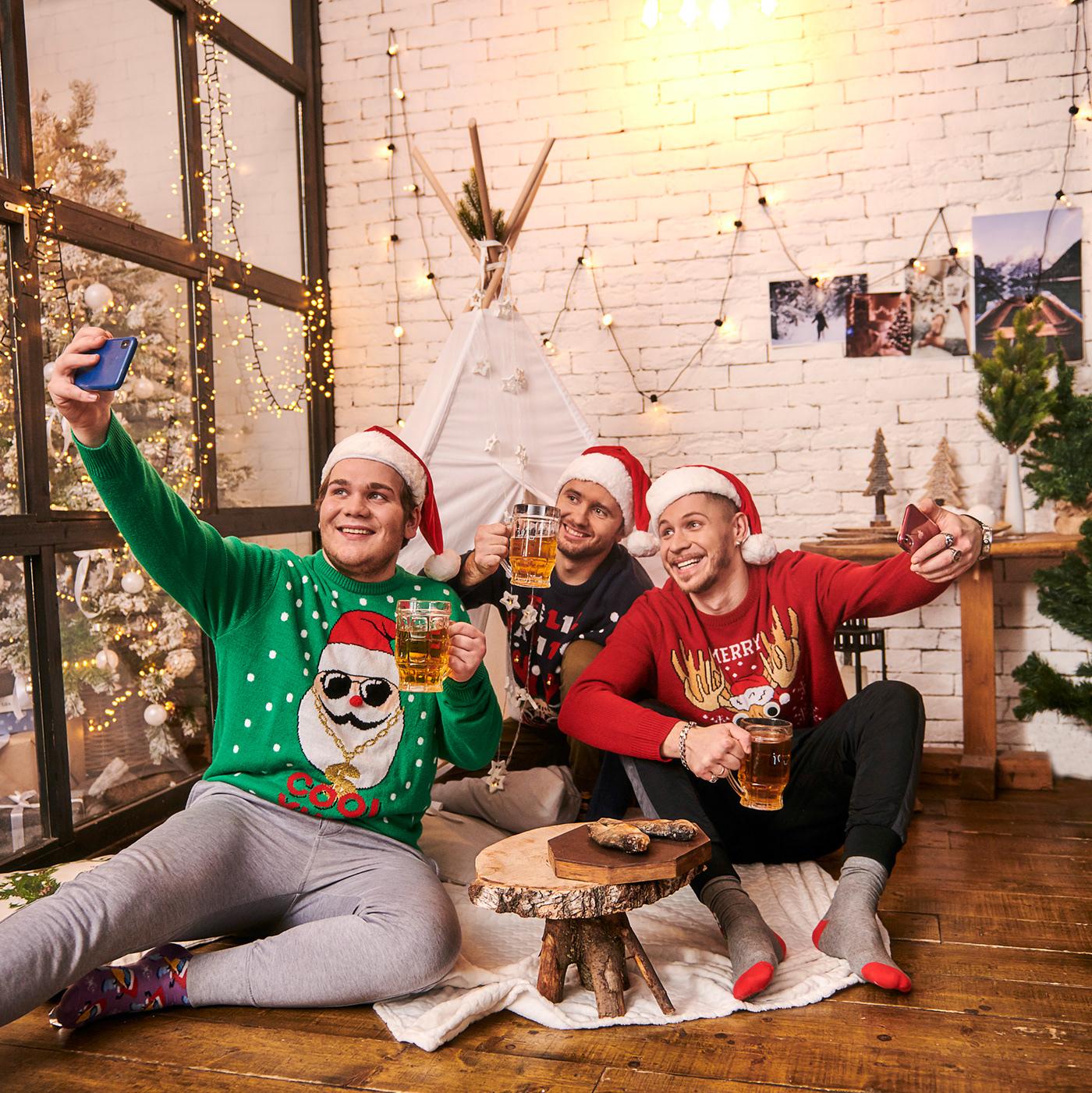 Новогодняя стёбная съёмка для ресторана Ёрш / фотограф Alex Yanbaev