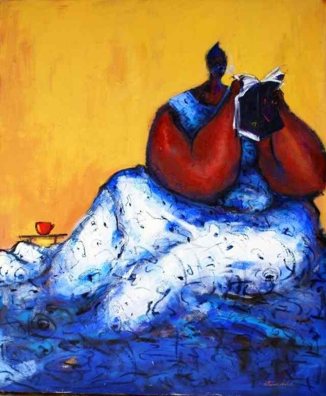 современный нигерийский художник Uthman O Wahaab