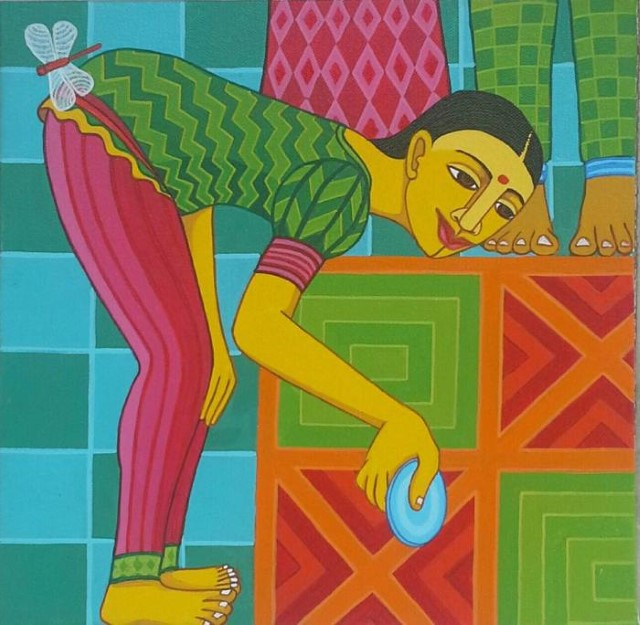 индийский художник Thota Laxminarayana