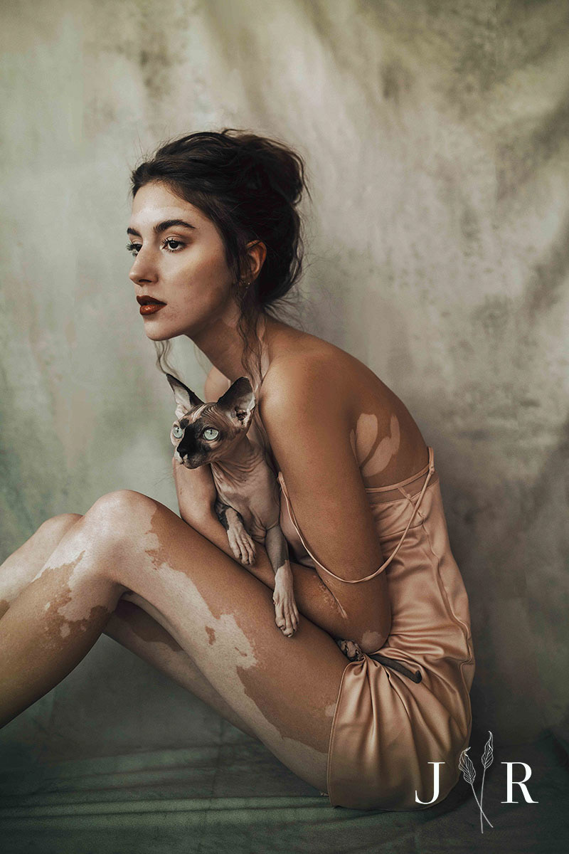 Girl and a Cat