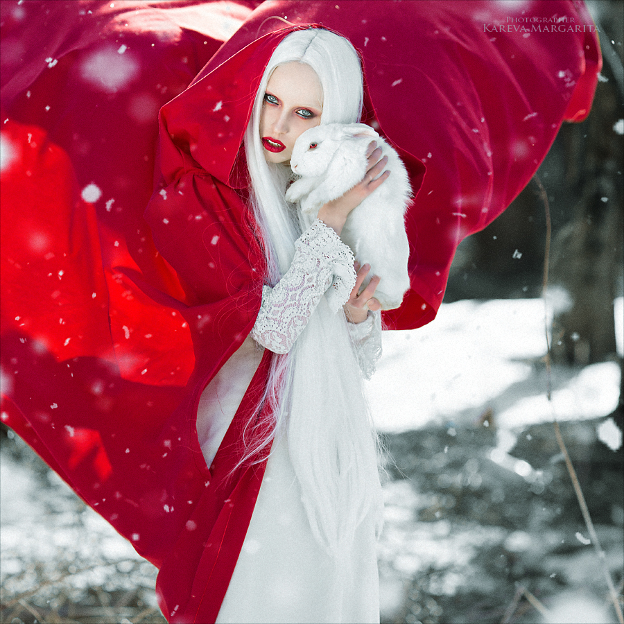 Белый кролик / фотограф Маргарита Карева