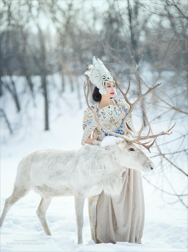 Белый олень