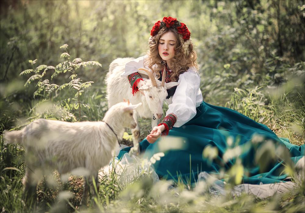 Ягненок и козочка lamb and goat