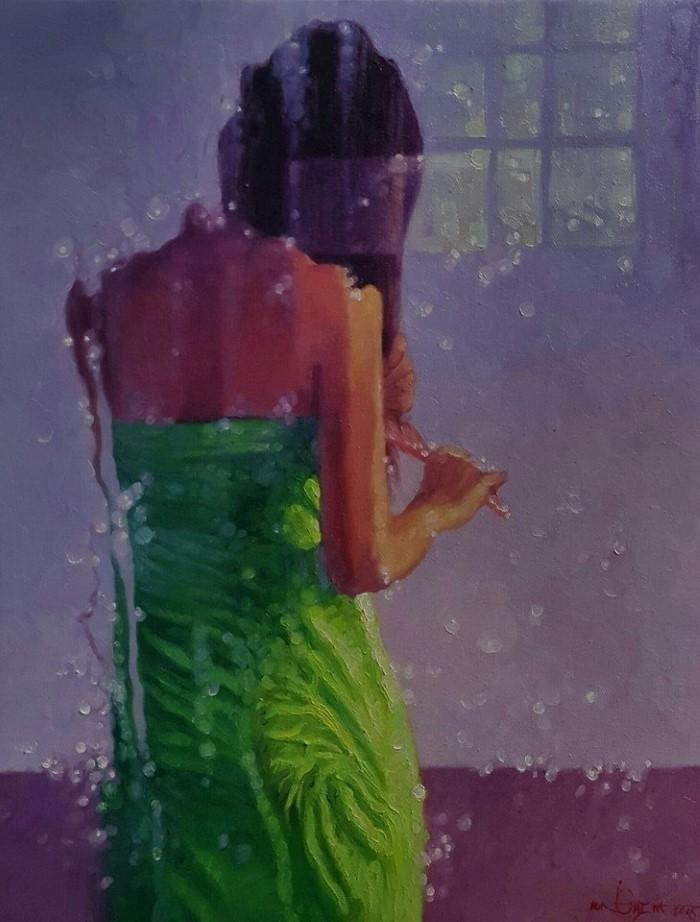 Мьянманский художник Aung Thiha