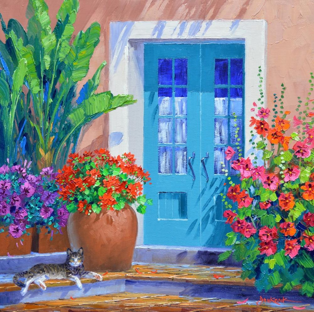 цветы и котики Mikki Senkarik