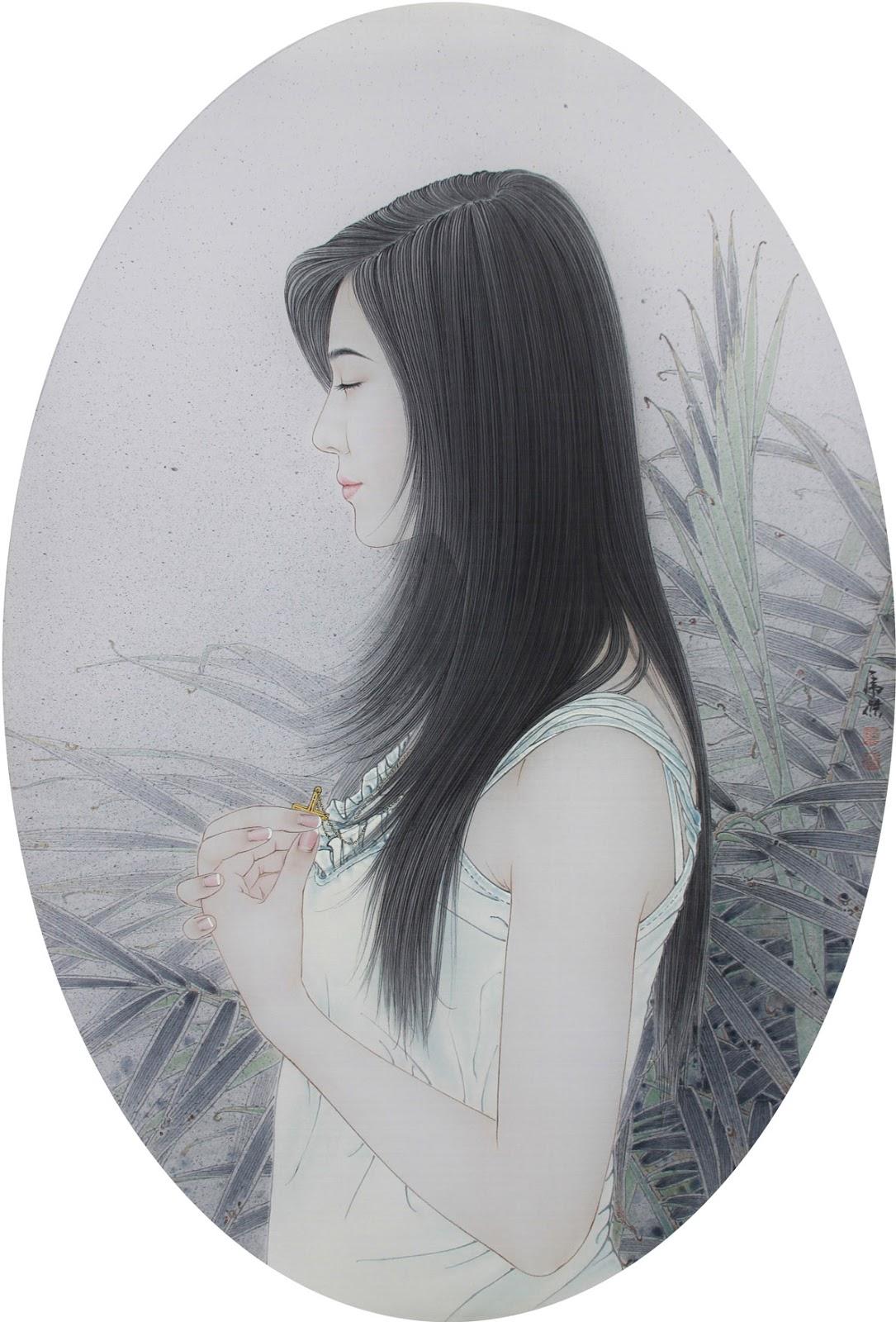 Тоненькая как тростник одинокая нимфа Liu Bolin