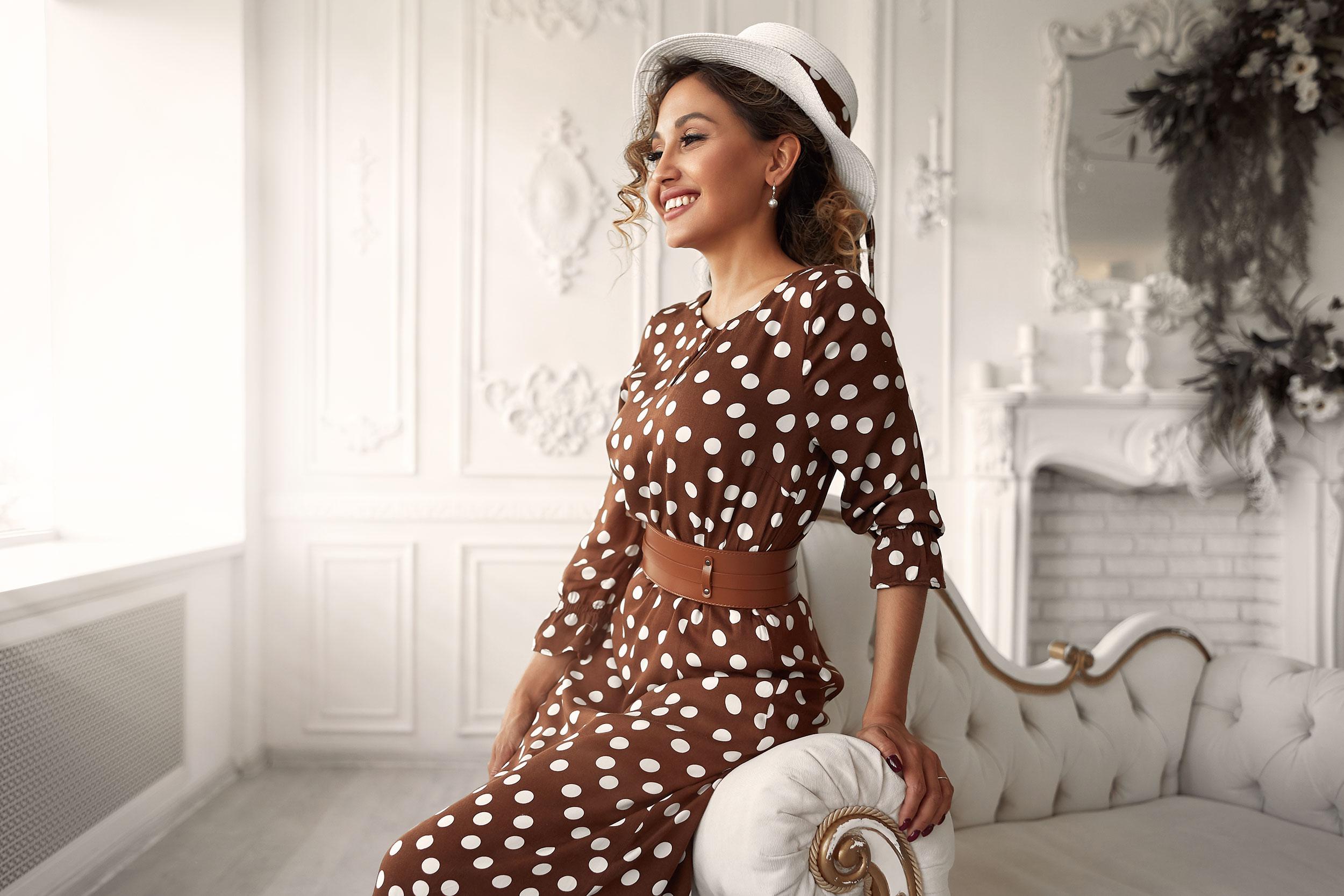 Платье в горошек / фотограф Александр Скрипников