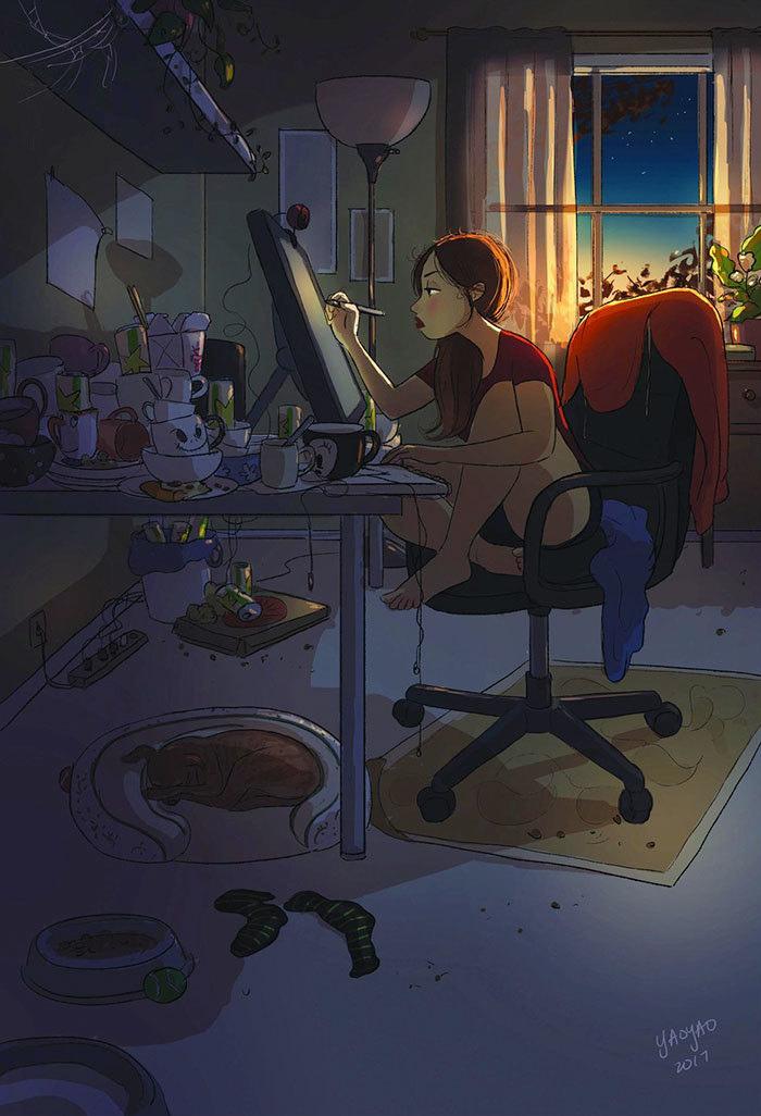 быть одиноким и жить одному