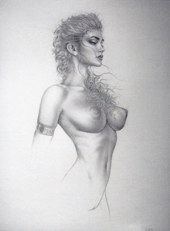 Нарисованная голая женщина