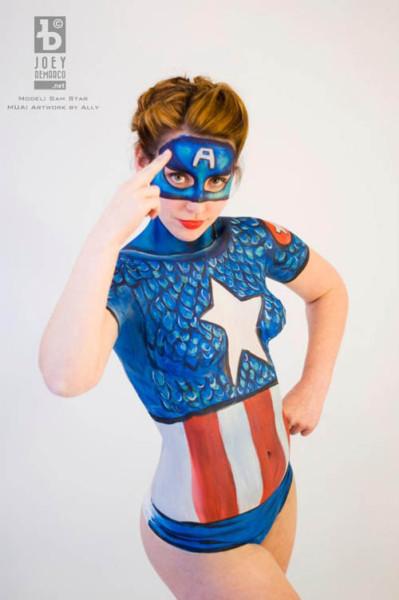 captain-america-body-paint