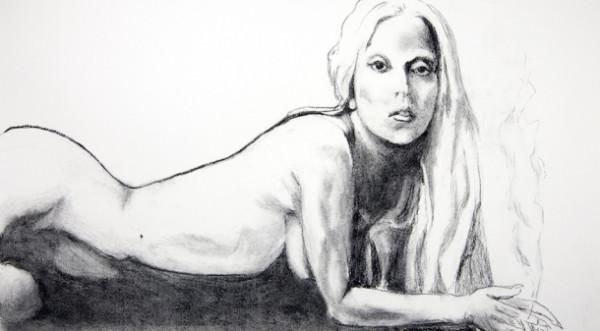 Tony-Bennet-Lady-Gaga-nude-naked-portrait-drawing