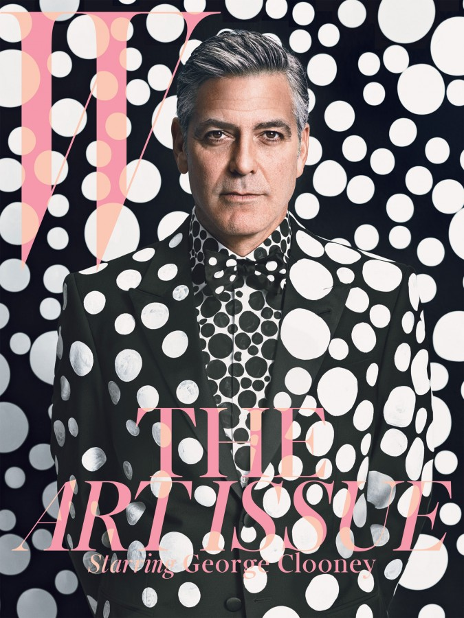 George_Clooney_for_W_Magazine_December_2013_January_2014_the_Art_Issue-00-Yayoi_Kusama-cover