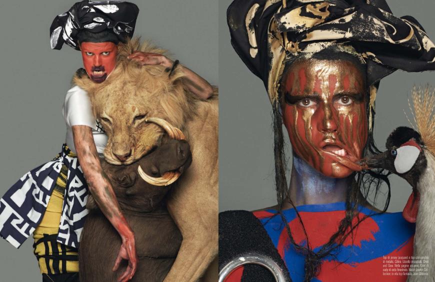 Saskia-De-Braw-by-Steven-Meisel-for-Vogue-Italia-March-2014-2