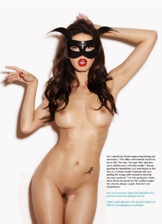 Miss February South Africa - Zoi Gorman in Playboy