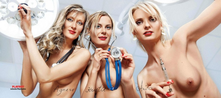 Latvian hospital - Agnese, Anita, Krista in Playboy