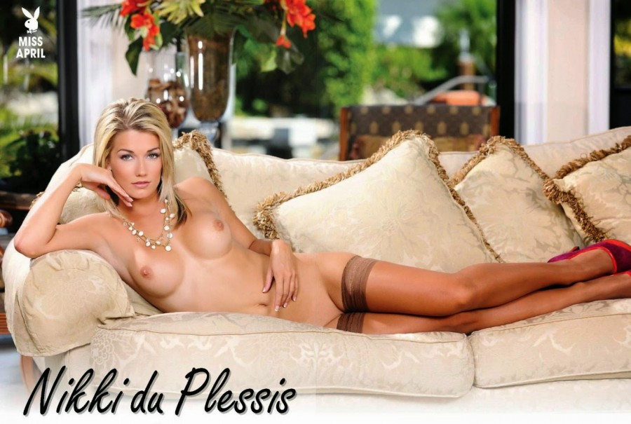 Playboy south Africa named Nikki du Plessis as their miss April 2014