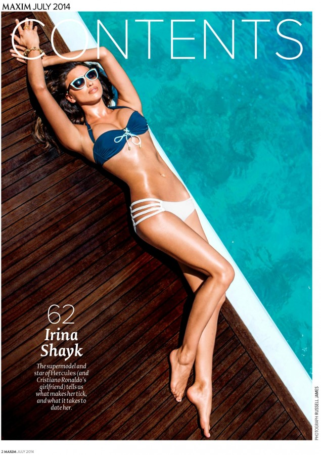 Irina Shayk Maxim India July August 2014