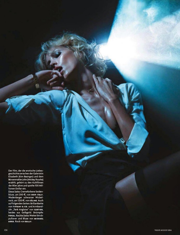 Anja Rubik for Vogue Germany August 2014