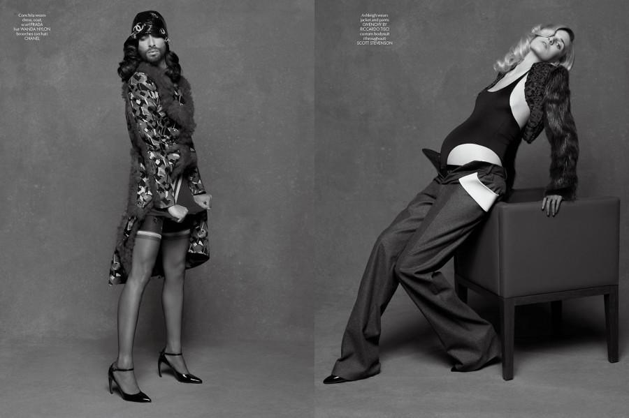 Conchita Wurst & Ashleigh Good by Karl Lagerfeld