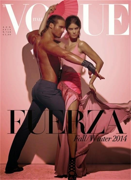 Isabeli Fontana & Timo Nuñez for Vogue Italia August 2014