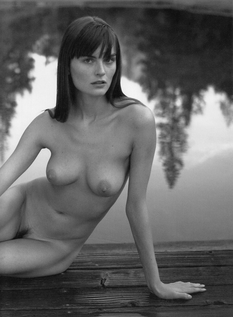 Belgian Model Anouck Lepere See Through And Topless For Vogue Magazine, Germany