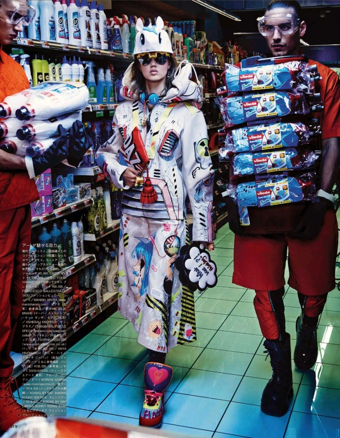 Lindsey Wixson & Hanne Gaby Odiele by Giampaolo Sgura VOGUE JAPAN OCTOBER 2014