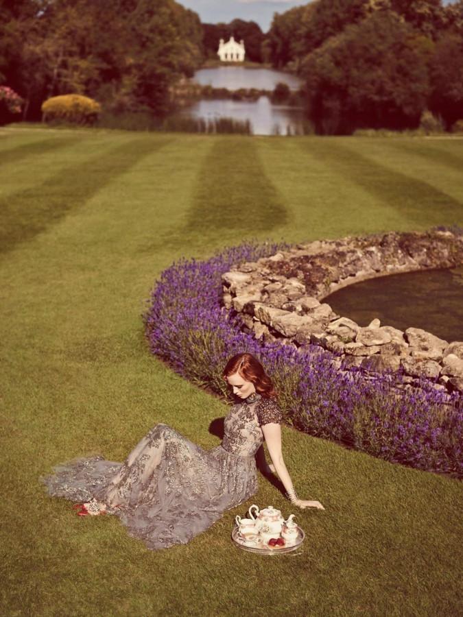 Karen Elson for Stylist UK September 2014 Jon Gorrigan