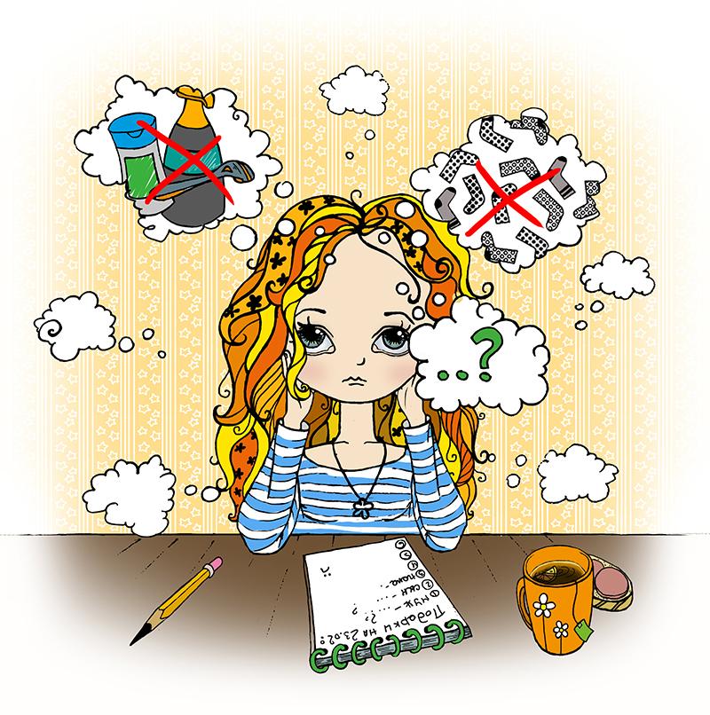 Иллюстрации для корпоративного календаря event-агентства ProutGroup / Художник Лена Крымина
