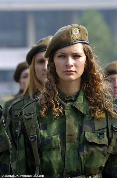 сербская девушка и албанцы