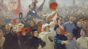 Репин. Манифестация 17 октября 1905 года