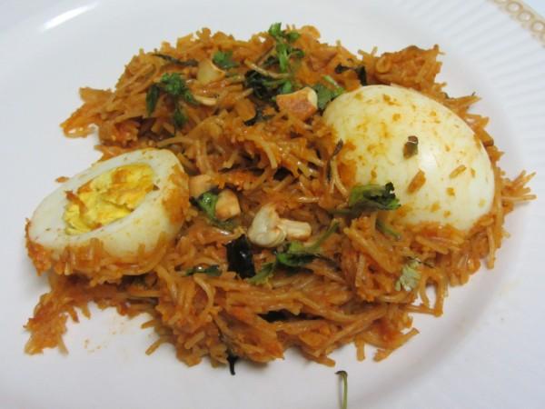 Egg Semiya Biryani
