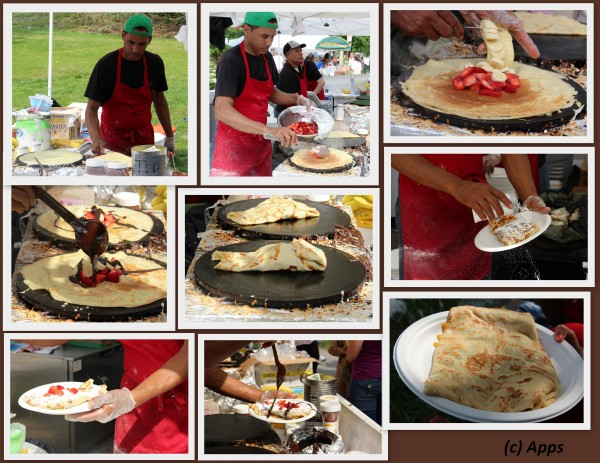 05162012 - Strawberry Banana Chocolate Crepe made from scratch. I picked Mushroom Cheese Crepe instead. - Tulip Festival, Albany, NY