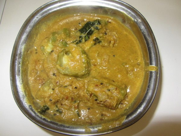 07072012 - Beerakaya Stuffed Curry - Same recipe as Karela Stuffed.