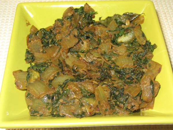 07272012 - Methi Leaves Curry