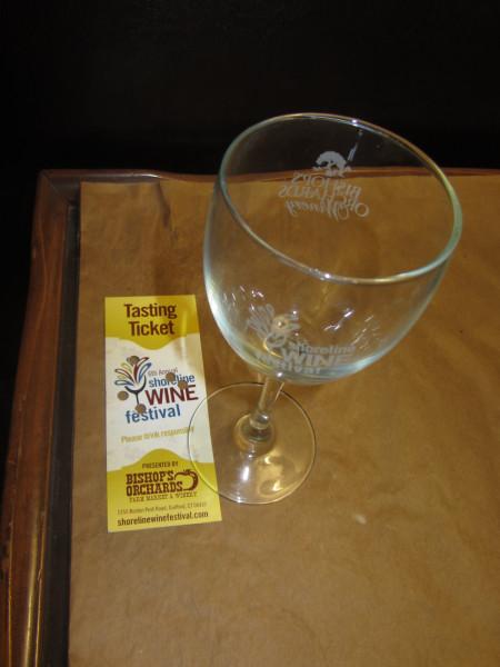 08112012 - Shoreline Festival - Souvenier Wine Glass from wine tasting