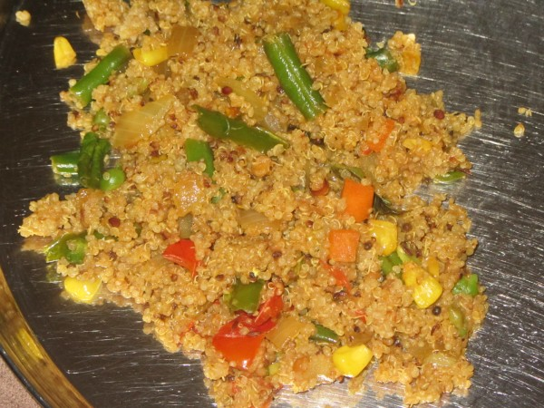 09292012 - Quinoa Upma - Sunil came to visit me after my sickness - cooked this for hima nd me...he enjoyed it thoroughly.