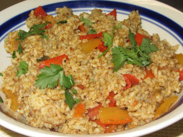 10012012 - Capsicum Rice with farm fresh capsicums