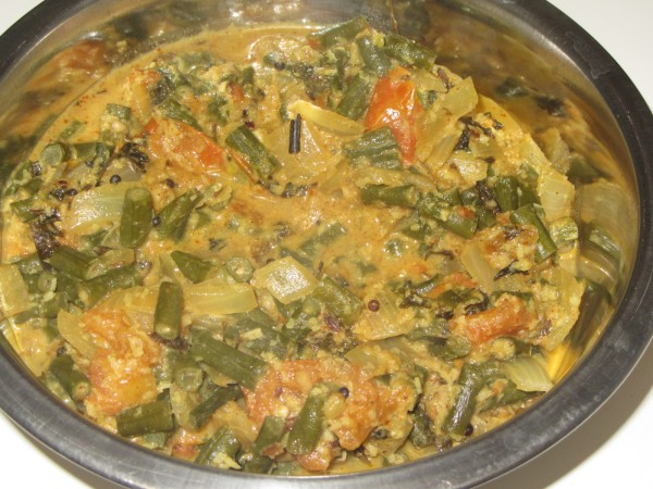 10142012 - Yard Long Beans Curry South Indian Style
