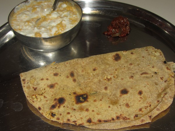 10232012 - Roti stuffed with Masala Dal
