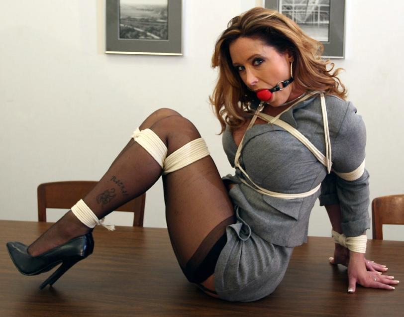 Legs stockings secretary bondage