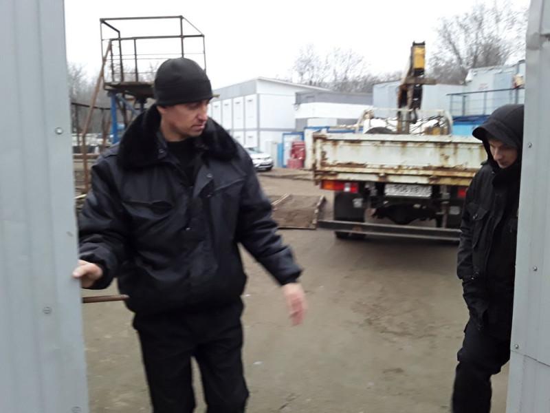 Охрана незаконной стройки сильнее московской полиции