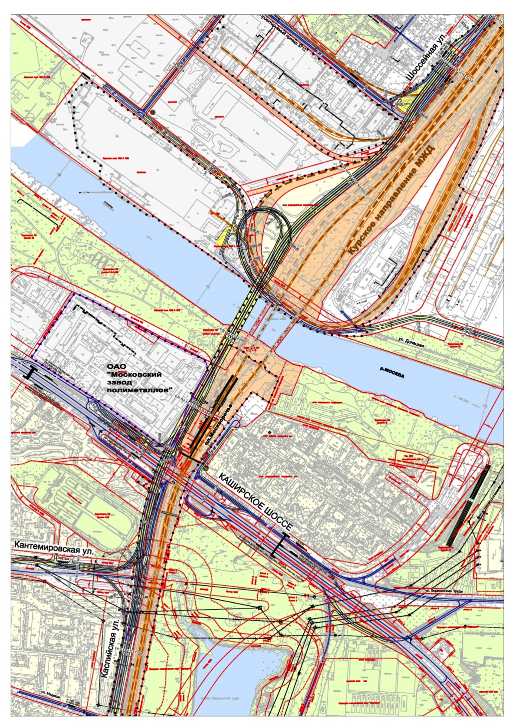 Проект мостового перехода ЮВХ в Москворечье-Сабурово