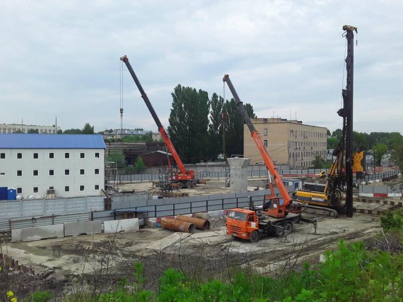 Площадка строительства радиоактивного моста в Курьяново. Фото @ Н.Синдяева